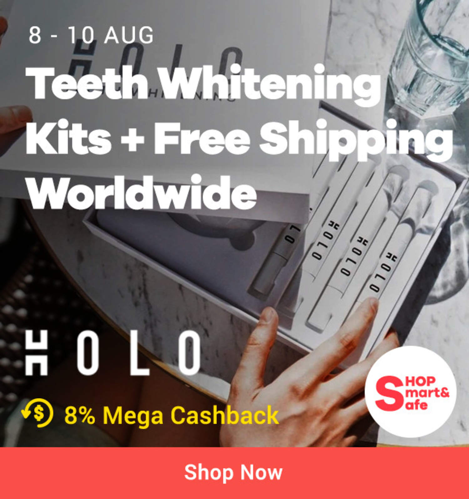 Holo: Teeth Whitening Kits + Free Shipping Worldwide