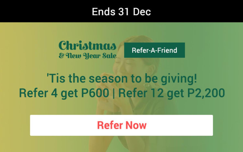 Ends 2018 Sep | Start off ShopFest with your barkada! Refer 3 get P599 | Refer 9 get P1,899