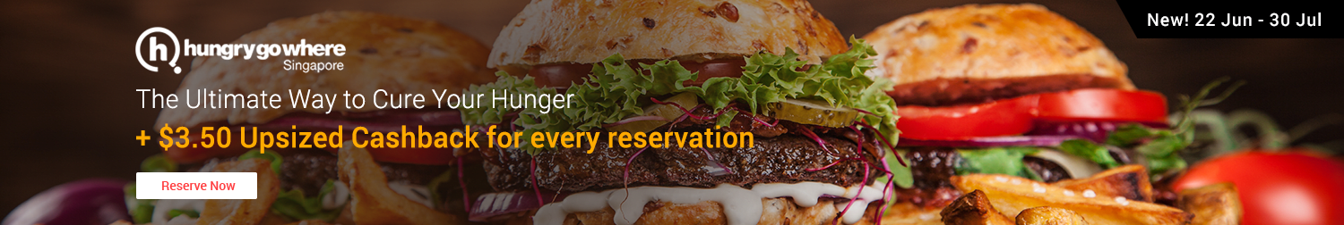Hungrygowhere Launch Promo: $3.50 Upsized Cashback for every reservation