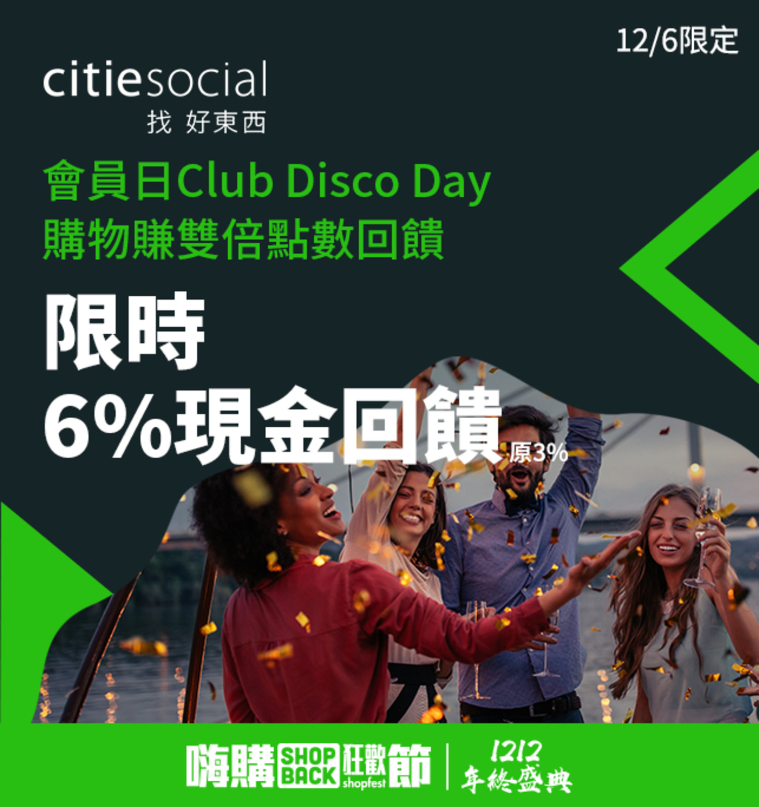 citiesocial 12/6 會員日