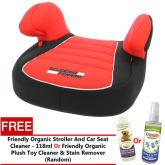 Ferrari Rouge Dream No Back Booster Car Seat 251179 + FOC Friendly Organic Cleaner 118ml (Random)