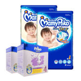 Mamypoko Extra Dry Diaper Super Jumbo XXL34 (2 Packs) + Friso Gold Bright Star Milk Powder Step 4 (3+ years) 400gx3 (2 pack)