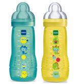Mam MAM Baby Bottle 330ml Twin Pack - Bahama Blue + Yellow