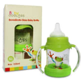 Not Available (na) GoGlass Borosilicate Glass Baby Bottle 4 oz BPA Free With Extra Nipple Included Free (Green)