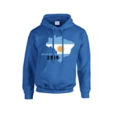 Gildan Argentina 2014 Country Flag Hoody (grey)