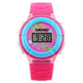 Cross-line Kids Children Luminous Quartz Digital Wristwatch Red (Intl)