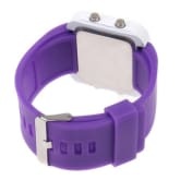 Oem Kids Led Digital Watches Mirror Surface Silicone Band Sport Wristwatch (Purple) (Intl)