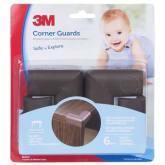 3m 3M SC-31 Child Corner Guard Brown 4/Pck - Cokelat