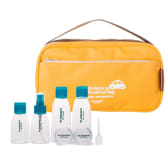M Square Travel Makeup Cosmetic Wash Toiletry Bag(Yellow) + 8pcs Set Travel Bottles (Intl)
