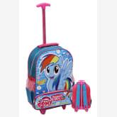 Onlan My Little Pony Rainbow Dash Soft Timbul Trolley Anak Sekolah SD Bahan Saten - Blue