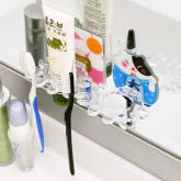 Clothingloves ClothingLoves Flower Suction Wall Toothbrush Holder (Blue)