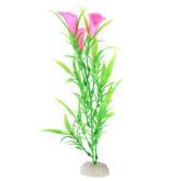 Elenxs ELENXS No Fading Artificial Plastic Petunia Grass Tank Aquarium Ornament (Pink Green) (Intl)