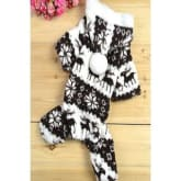 Imixlot Winter Warm Small Dog Pet Clothes Apparel Hoodie Jumpsuit Pants (Coffee)