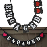 Oem OEM Engaged Bunting Wedding Party Banner Garland Photo Props Hanging Decor Sign UK