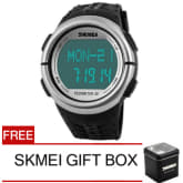 Skmei SKMEI ORIGINAL 1058 Waterproof 50M Heart Rate Monitor Pedometer Sport (Black)