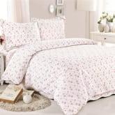Hequ 3pcs Sets Quilts 225*245cm Cotton Comforter Pillow Cases Bedclothes Home Textiles (Multicolor)