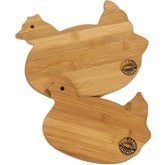 Manual Rooster Bamboo 2 Piece Cutting Board