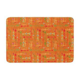 Kess Inhouse KESS InHouse Jane Smith Vintage Arrows Yellow Orange Memory Foam Bath Mat, by 24