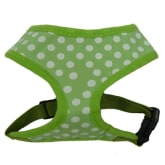 Adjustable Dog Cat Puppy Soft Mesh Polka Dot Vest Harness Pet Accessories (Green) – M