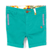 Poney PONEY Toddler Boy Bermuda with Chambray Applique (Green)