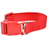 Adjustable Soft Fabric Pet Dog Collar&Harness Lead Leash (Red) – M