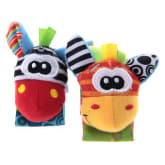 WiseBuy 2x Plush Wrist Strap Rattle Early Educational Toy for Kids Baby Toddler Newborn