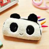 Plush panda pencil bag white 1pc