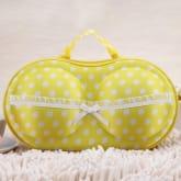 UJS Underwear StoraBox Covered Bra Box Panties Socks Travel Bra Bags (Yellow)