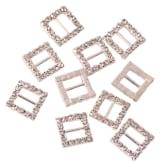 30 Pcs Charming Rhinestone Pearl Silver Tone Shank Round Button Sewing Craft