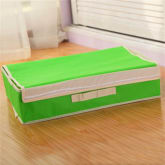 Newest Foldable Anti-bacterial Clothing Organizer Storage Box (10 grids) (Green)
