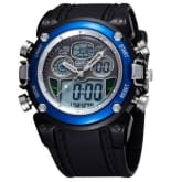 AOXINDA Ohsen Water-proof Dual Time Boys Girls Sport Watch - Blue