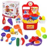Educational toys children play house toy simulation role-playing toys Variety A5 kitchen playset red