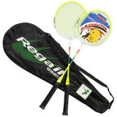 High-strength Two Badminton Racquet Set Including Badminton Bag