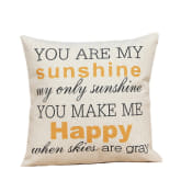 1 PC Composite Linen Square Throw Pillow Case Home Car Office Decorative Cushion Cover Pillowcase Without Pillow Inner