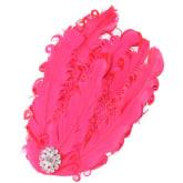 Generic FH15 Feather Diamond Headband - Rose Red