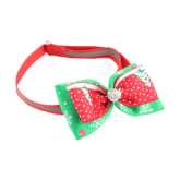 Oem Christmas Xmas Adjustable Cat Dog Pet Bowtie Teddy Bow Tie Collar Necktie With Flash Diamond