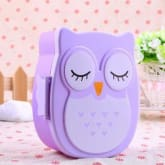 Buyincoins BUYINCOINS Lovely Cartoon Owl Lunch Box Food Container Storage Box Portable Bento Box Spoon(Export)(Intl)