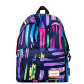dye-sublimation print fashion contrast color backpack (Purple)