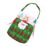 S & F Cute Kids Christmas Candy Pouch Bags Christmas Gift Bags 02 Style (Green)