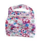 Colorful Floral Picnic Insulated Zipper Organizer Box Tote Lunch Bag Pink (EXPORT)