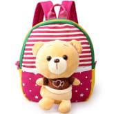 Children's school bags for boys and girls in kindergarten kids 1-3 years baby bag cute backpack Rose red(Export)(Intl)