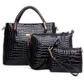 Oem Women Handbag PU Leather Messenger Vintage Shoulder Crossbody Bags Black(Export)(Intl)