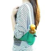 Aodi (TM) Sports Waist Bum Bag Fanny Pack Belt Storage Pouch Triangular Waist Bag For Jogging Running Hiking with Water Bottle Holder (Green)