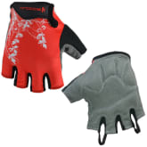 360dsc 360DSC BOODUN Flower Printed Outdoor Riding Cycling Bike Half Finger Gloves - Red M
