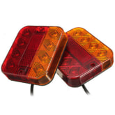 Oem 2 x Waterproof 8 LED Stop Rear Tail Brake Indicator Light Lamp Trailer Caravan Van