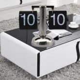 Oem Retro Auto Flip Style Scale Design Single Stand Metal Desk Clock Black