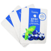 Korean Cosmetic Coony Blueberry Essence Mask Visibly Younger Skin 23g- Set of 3