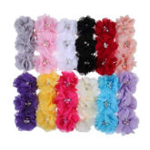 12 Pieces Kids Baby Girl Toddler Cute Flower Headband Hair Band Headwear (Intl)
