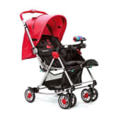 Baby 1st S-036CR 3-Way stroller with toys and Rocking System (Red)