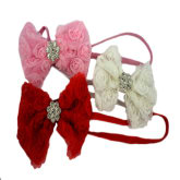 Baby Matters Baby Headbands (Rosette Flower with Rhinestone) Pink, White and Red 3pcs/pack 0+ mons